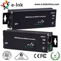 Hardened Microtype 100Base-TX to 100Base-FX SFP Ethernet Media Converter thumbnail image