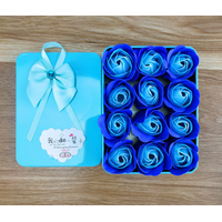 Romantic Artifiial Blue Rose Soap Flower Gift Box for Lover thumbnail image