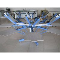8 color and 8 station screen printing machine