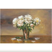 Beautiful Floral Oil Painting Handmade Flower Canvas for Decoration