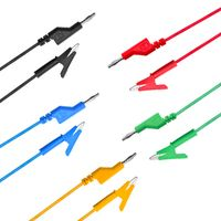 NUELEAD 4mm Banana Plug To Alligator Clip Test Lead Wire Cable thumbnail image
