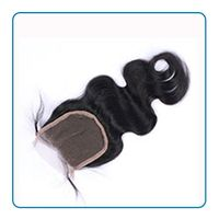 100% human hair Lace closure with baby hair