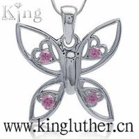 fashion 925 butterfly pendant thumbnail image