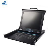 AZE Rackmount KVM Console - 1U 19in Display - Single Port KVM - Rack Mount Monitor - Rackmount LCD M thumbnail image