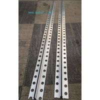 Aluminum control joint for marble floor