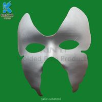 Eco-friendly paper pulp molded full face party mask