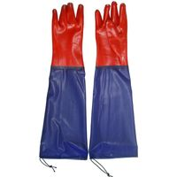 Reinforced cuff PVC gloves for finisihng