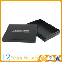 high quality box black hair packaging