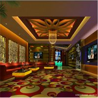 Guangzhou Wholesale Colourful Floral Pattern Fire-Resistant Carpet For Casino And KTV