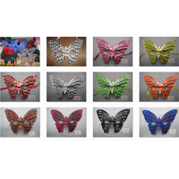 Venetian Masquerade Butterfly Party Mask With Sparkling Gold Powder thumbnail image