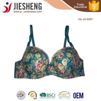 2015 new design top quality low price sexy elegant bra wholesale printed flowers underwear