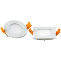 led slim panel 3W Round/Square