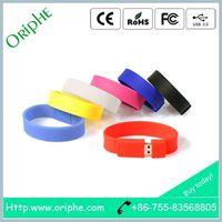 Plastic, fashion wrist band, custom printed LOGO,USB Flash Drive thumbnail image