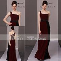 Coniefox Brand New Brown One Shoulder Sexy Party Dresses 81335 thumbnail image