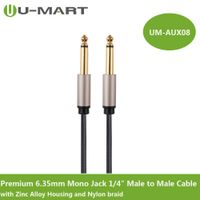 "Premium 6.35mm Mono Jack 1/4"" Male to Male Cable with Zinc Alloy Housing and Nylon braid"