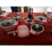 19pcs aluminium cookware set in stock
