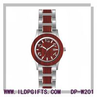 Stainless steel wooden man watch