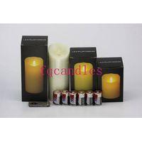 Led pillar candle,Wax flickering led pillar candles,Led Luminaire Candle