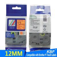 tze-B31 12mm laminated printer ribbon compatible brother fluorescent tape thumbnail image