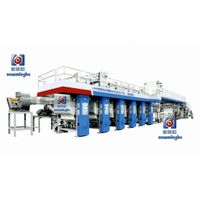 wall covering printing gluing and embossing production line