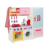 Children Wooden Kitchen Toy, Kids Play Mini Kitchen Set Toy
