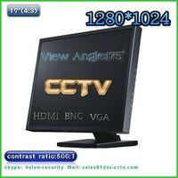 17inch 4:3 175 degrees view angle cctv monitor with BNC, VGA, HDMI INPUT thumbnail image