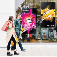 Storefront window display with ultra-high brightness and slim design