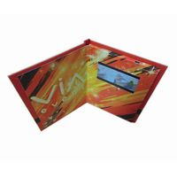 Invitation LCD Video Greeting Cards for Gifts & Promotion, with Customer Design Printing Artwork & V