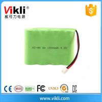 4.8V replacement nimh battery pack 1800mah aa size