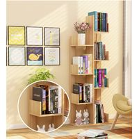 Creative design tree shape grounded book shelf GS005
