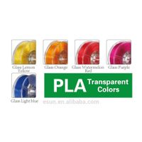 eSUN 3D printer PLA filament (Transparent Colors)