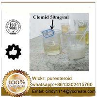 Clomiphene Citrate 50mg/ml 50mg Clomid 50mg Antiestrogen Clomid Raw Powder Clomifene Citrate