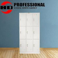 High Quality Stainless Office furniture 9 doors metal file cabinet thumbnail image