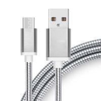 Usb data cable stainless steel wire phone cable charger usb cable bulk for sale