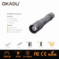 Cree LED Ratating Focus Flashlight Torch