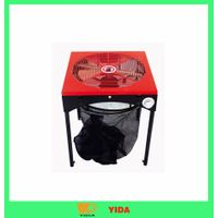 18 inch standing three colour (red.orange. yellow) leaf trimmer
