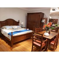 Simple solid wood bed