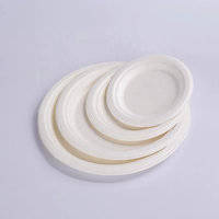 Eco-friendly Disposable Paper Plate, Compostable sugarcane fiber plate,tableware