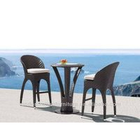 FCO-2007bar stool black rattan bar table and chair