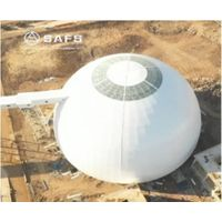 SAFS bolt ball connected high strength & light weight steel space frame coal storage steel roof