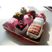 DIY felt cup cake set