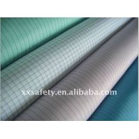 Flame retardant antistatic fabric