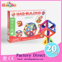 20 pcs Educational toy magnetic building blocks toys for kids