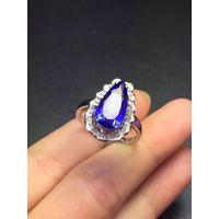 Neffly jewelry ring with tourmalinel and diamond