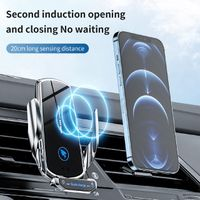 2021 new smart auto clamping fast wireless charger car mount for any mobile thumbnail image