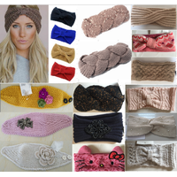 Acrylic Knit Lady Sweat Headband Headwear Turban Ear Warmer Hair Band Neckwarmer
