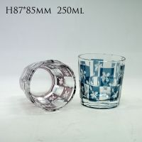 Edo kiliko glass cup unique design glass tumbler whisky cup wine glasses