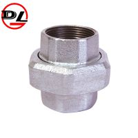 black galvanized malleable iron pipe fitting pipe union thumbnail image
