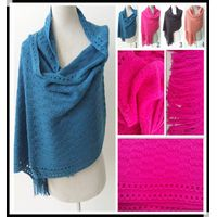 PG1209 Lady's winter warm knitted scarf infinity acrylic scarf