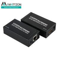 Mattzon HDMI Extender 60m over lan cable Single cat5e/6, 1080p,3D, signal lossless, ir etxender thumbnail image